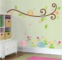 Wandtattoo Zoo Eule Wand Sticker Wald Kinderzimmer XL