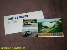 RALLYE SKODA (Bohemia) Skoda 130 RS, Renault 5 - Karte/card 10x21+cover RAR!