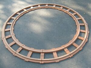 Lot of 12 Peg Perego Ride On Train Track Pieces, Brown Curved, Circle, Thomas