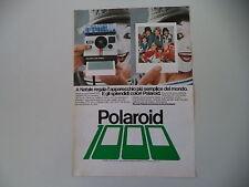 advertising Pubblicità 1978 POLAROID