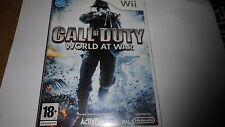 jeu nintendo WII Call off duty , world at war  , TBE