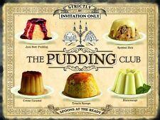 Pudding Club Cakes Kitchen Cafe Bar Restaurant Bistro Large Metal Tin Sign