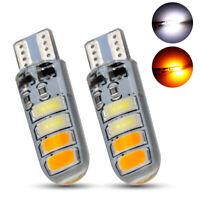2x T10 194 168 W5W 8SMD Car LED Strobe Flash Light Bulbs White Yellow Lamp 12V