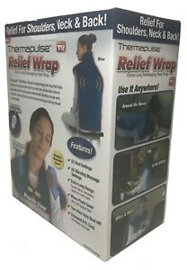 Thermapulse Relief Wrap Extra-Long Massaging Heat Wrap - Blue Color