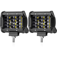 "2X 4"" inch 200W 12LED CREE Work Light Bar Flood Spot Combo Driving Cube Lamp Car"