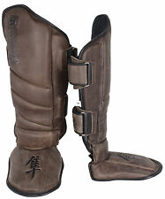 Hayabusa Kanpeki 2.0 Striking Shinguards (Brown) Size: XL