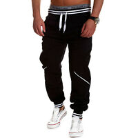 Men Jogger Sportwear Baggy Casual Harem Pants Slacks Dance Trousers Sweatpants E