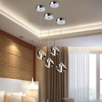 LED Crystal Pendant Light for Dining Room Chandeliers Rooms Fixture Ceiling Lamp