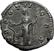 COMMODUS son of Marcus Aurelius Silver Ancient Roman Coin Salus Health   i63437
