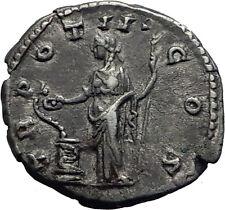 COMMODUS son of Marcus Aurelius Silver Ancient Roman Coin Salus Health   i63437