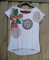 Desigual Priscila White Cotton Top Short Sleeves - 65T24M9 NWOT sizes S M L XL