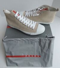 PRADA HIGH TOP SUEDE SNEAKERS SIZE 10 POMICE
