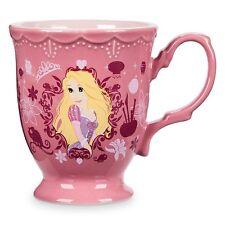 NEW DISNEY STORE RAPUNZEL TANGLED PRINCESS NAME FLOWER MUG COFFEE CUP