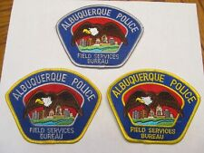 New Mexico Albuquerque Police Field Service Bureau Patch Set All Diff