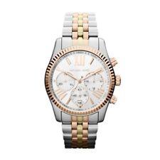 Michael Kors MK5735 Ladies Lexington Tri Tone Chronograph Watch