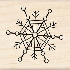 Inkadinkado Doodle Snowflake Wood Stamp Rubber Mounted  Holiday Winter Snow NEW