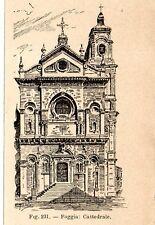 Stampa antica FOGGIA Cattedrale della Beata Vergine Maria Assunta 1910 Old print