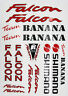 FALCON Team Banana vintage style Cycle Frame Decals Stickers