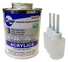 Weld On 3 Acrylic Adhesive Pint And 3 Pack Applicator Bottles