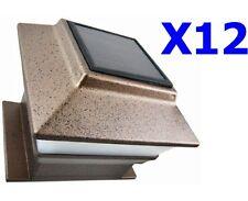 12 Outdoor Garden Solar Post Deck Cap Square Fence Light Plastic Copper 244x12