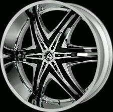 "28"" Inch CHROME Diablo Elite Wheels Rims Wheel 22 24 26 30 32 Hummer H2"