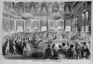 DANCING GRAND BALL AT TUILERIES GIVEN BY EMPEROR NAPOLEON 1863 BEES QUADRILLE