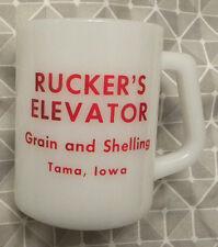 Vintage Ruckers Elevator, Rucker's Grain & Shelling, Tama, Iowa IA Cup, Mug