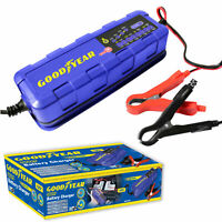 Goodyear Car Battery Trickle Charger with Advanced Vehicle Diagnostics 60W