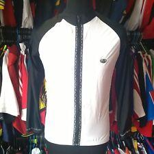BLACK WHITE 15% SPANDEX CYCLING SHIRT L/S BIKE SKIN JERSEY SIZE ADULT M