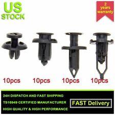 40Pcs 7.5-10mm Nylon Rivet Fastener Bumper Push Type Clips For Ford Honda Accord