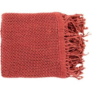 Tibey by Surya Throw Blanket, Rose - TBE5004-5070