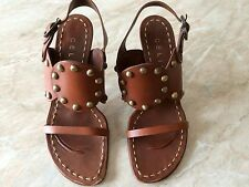 CELINE SCARPE SANDALI BORCHIE GLADIATOR SHOES 5.5 SANDALS STUD ESCARPINS 38.5