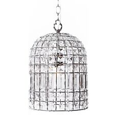 Whitney Bohemian Style Chandelier Pendant Light Chrome Finish Glass Crystals