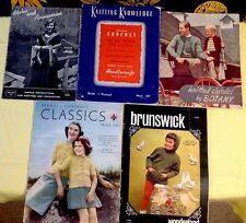 5 Vintage Knitting Patterns Mags Home Arts And Needlecraft Brunswick Wonderland