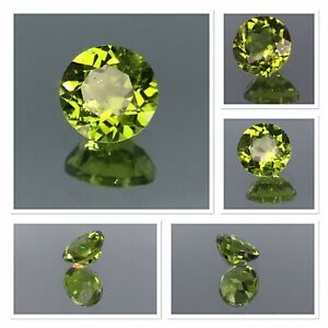 Peridot Gemstone Natural Untreated 2.70 Carat Vivid Green Pakistan Round Cut