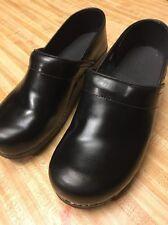 SANITA | ORIGINAL MEN'S DANISH CLOGS Black Leather US 10 EU43 New (17297-12)