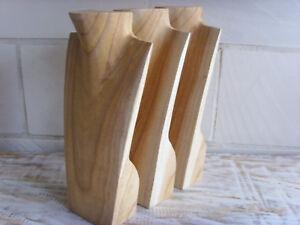 3 Schmuckbüsten, Kettenhalter, 30 cm, Schmuckständer,Massivholz, natur