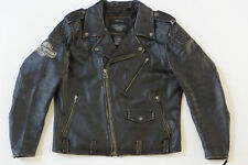 Harley Davidson Men's BLACK LABEL #1 Skull Vintage Leather Jacket XL 98063-13VM