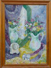 Espressionista -stillleben -sommerblumen in Brocca -ölgemälde Massa Dipinto