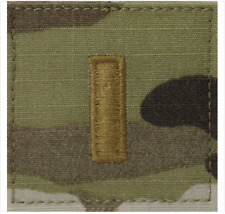GENUINE U.S. ARMY EMBROIDERED OCP WITH HOOK RANK INSIGNIA: SECOND LIEUTENANT