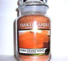 "Yankee Candle ""WARM DESERT WIND""~ European ~ Large 22 oz.~ WHITE LABEL ~ NEW"
