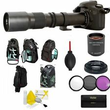 500MM 1000MM ZOOM LENS + KODAK BACKPACK + FILTER KIT FOR CANON EOS REBEL DSLR