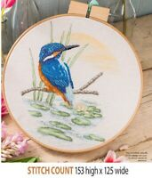 KINGFISHER  HOOP  CROSS  STITCH PATTERN ONLY     ALS    QE