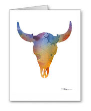 Buffalo Skull Note Cards With Envelopes