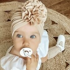 Lovely Flower Baby Hat Soft Girl Turban Beanie Kids Headwraps Bonnet Cap Newborn