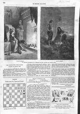 Le capitaine Fracasse de Théophile Gautier Dessin de Gustave Doré GRAVURE 1866