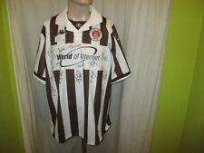 """FC St.Pauli Kappa Aufstieg Trikot 2000/01 """"World of Internet"""" + Signiert Gr.XL"""