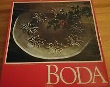 """Kosta Boda Crystal Poinsettia 12 3/4"""" diameter Platter Made in Sweden"""