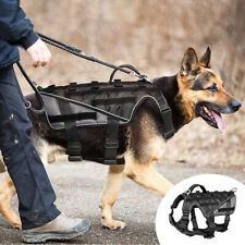 Tactical Military Dog Training Harness W/ Handle Reflective German Shepherd M-XL
