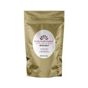 Bath Sea Salt Vanilla Mist flavor 100% Pure Natural Trace Mineral Coarse 32 OZ